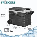45Lt Mobile Fridge and Freezer 12/24V  Solar Panel Input + Lithium Battery + 220V Adapter